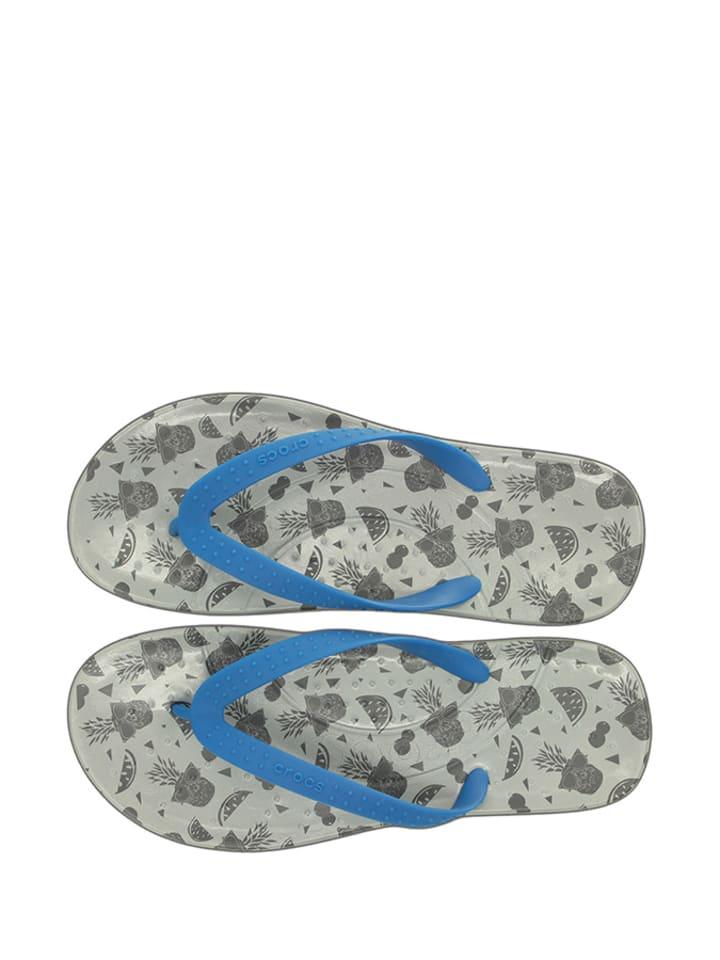 "Crocs Zehentrenner ""Chawaii Fruit"" in Grau/ Blau"