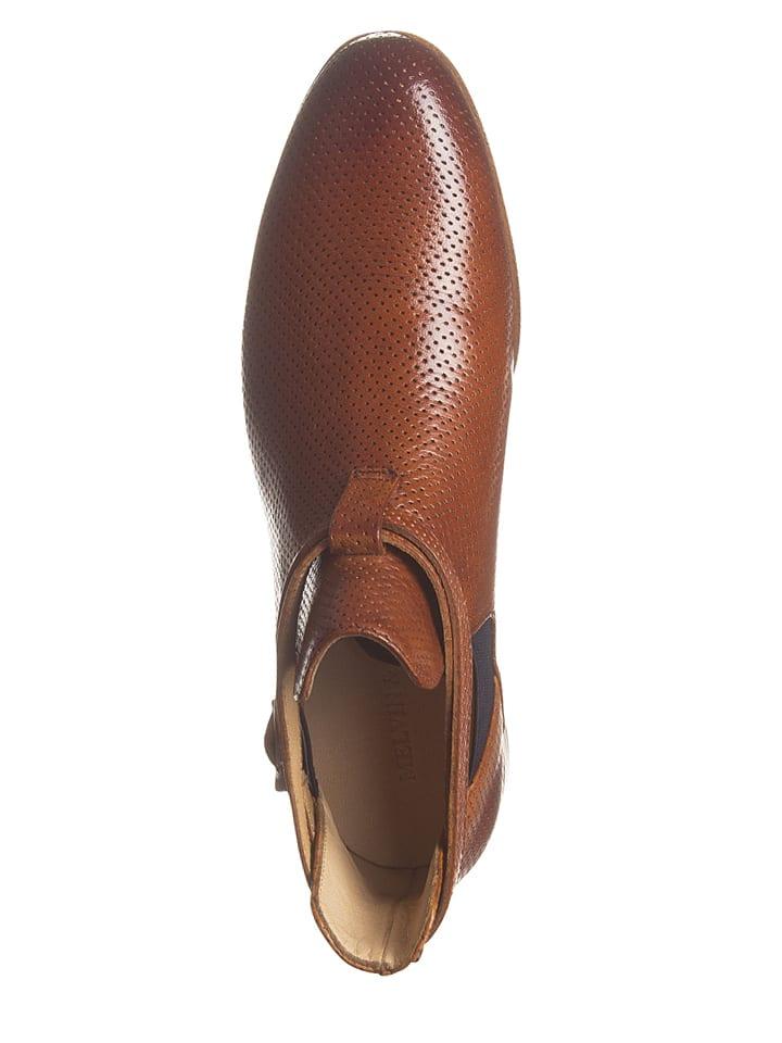 "MELVIN & HAMILTON Leder-Boots ""Susan"" in Hellbraun"