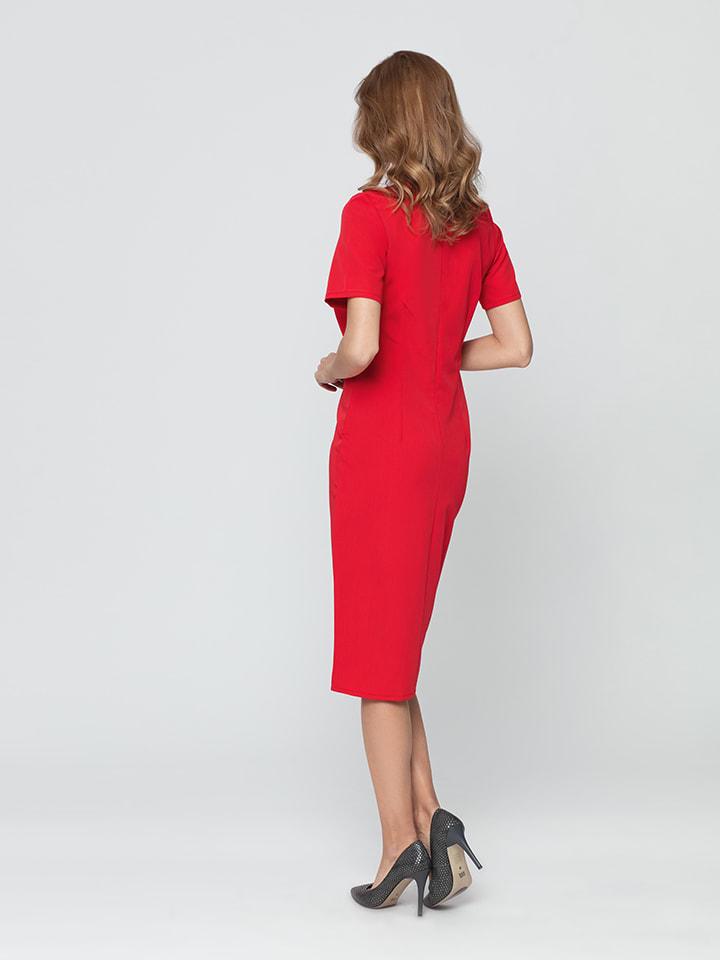 Kabelle Kleid in Rot
