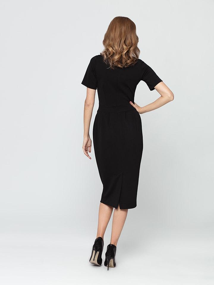 Kabelle Kleid in Schwarz