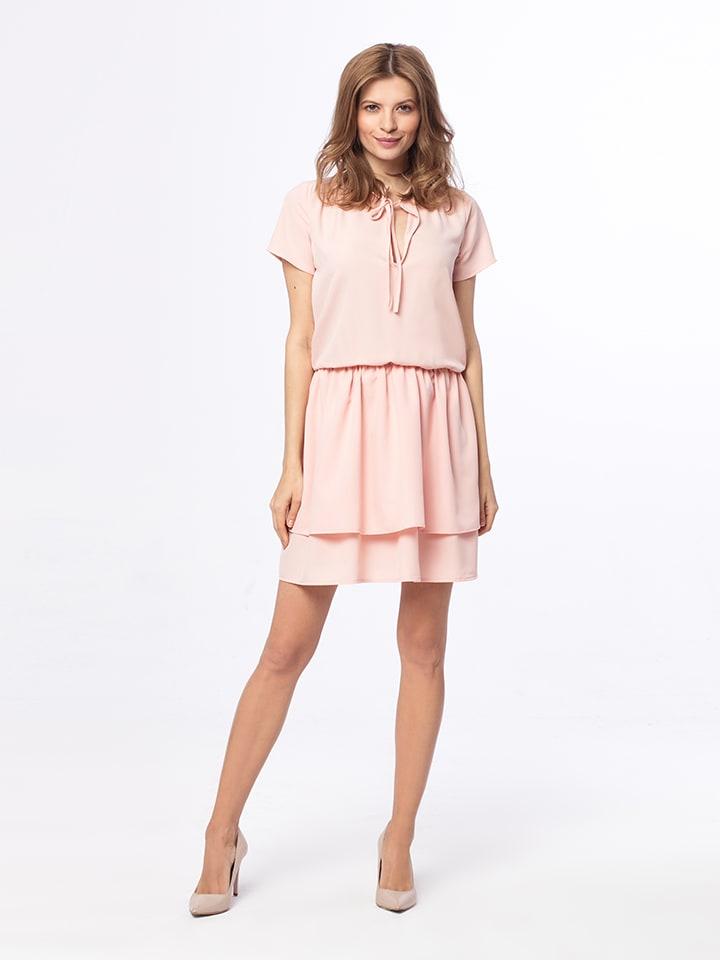 Kabelle Kleid in Rosa
