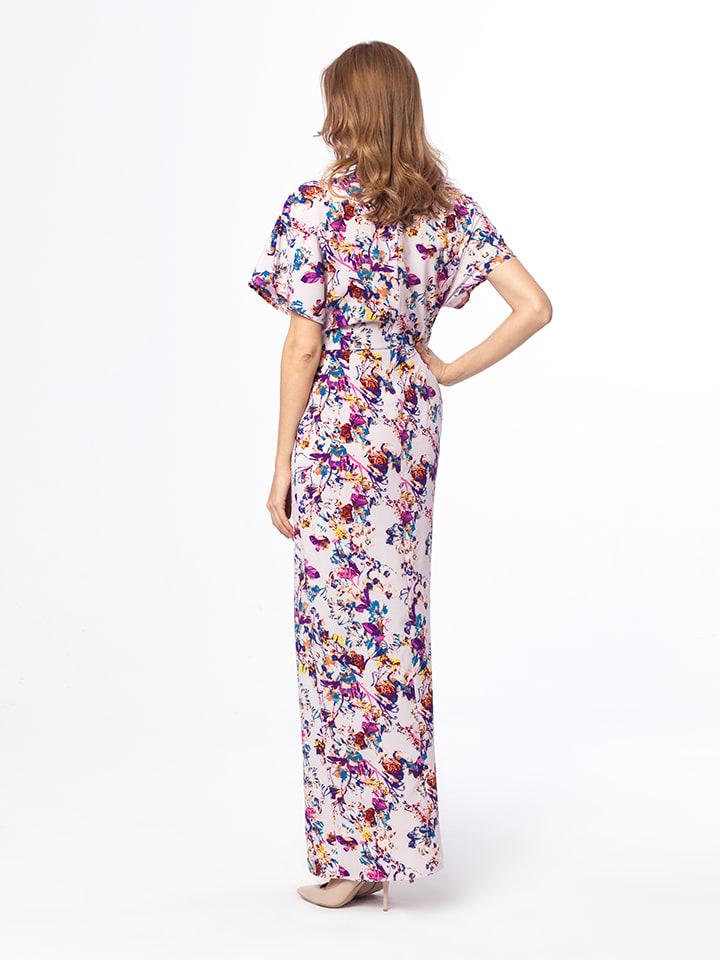 Kabelle Kleid in Flieder/ Bunt