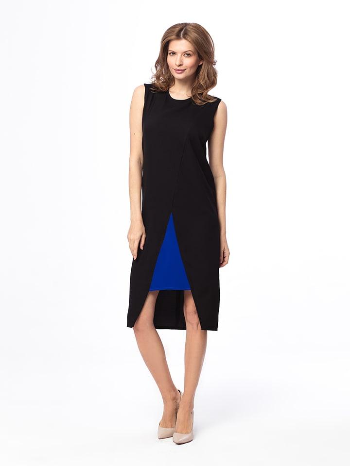 Kabelle Kleid in Schwarz/ Blau