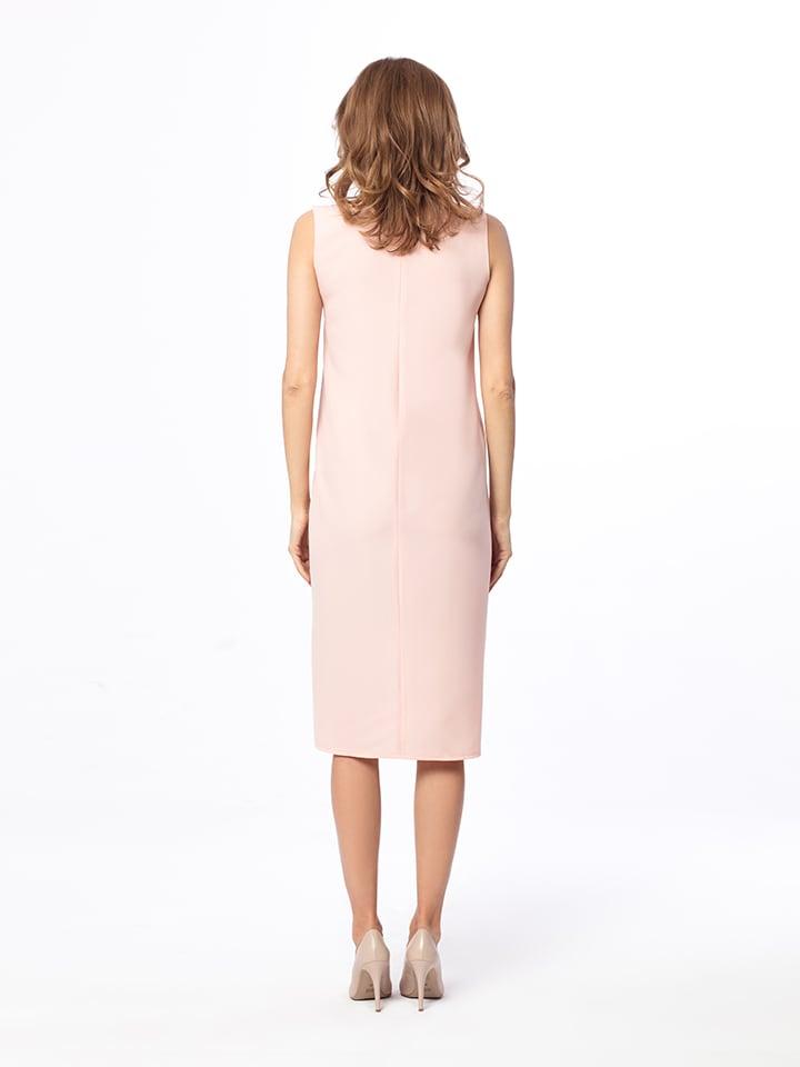 Kabelle Kleid in Rosé/ Creme