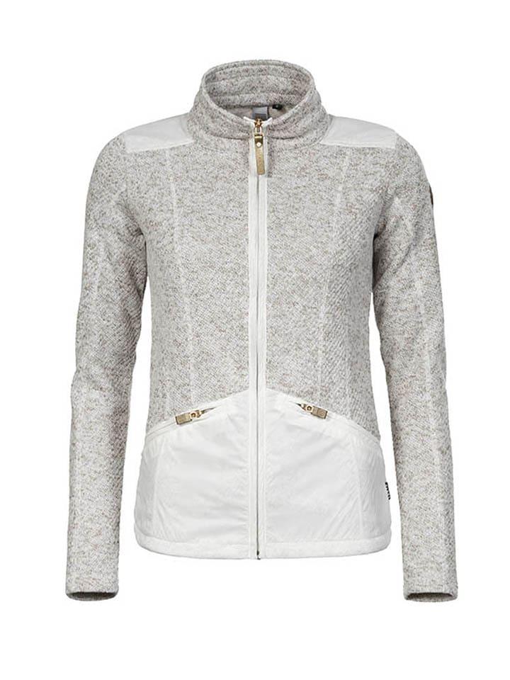 """LUHTA Fleecejacke """"Aili"""" in Weiß/ Grau"""