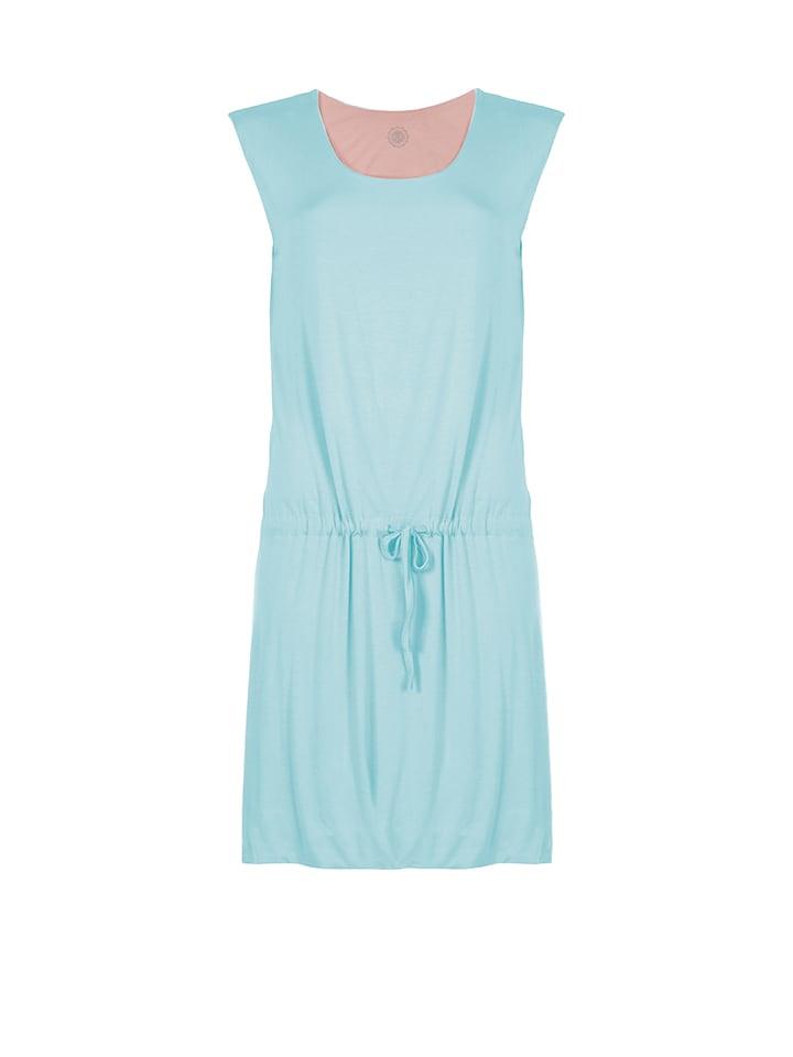 Poivre Blanc Kleid in Hellblau/ Rosa