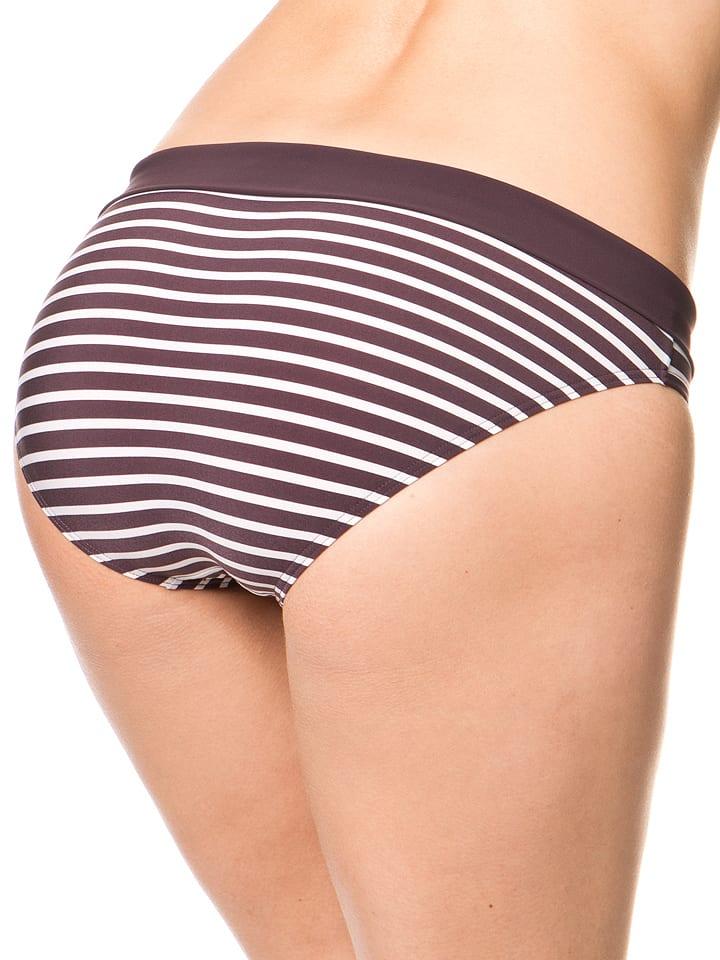 Marc O'Polo Bikini-Slip in Aubergine/ Creme