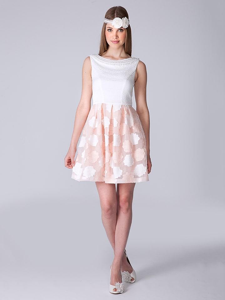 OLIMARA Kleid in Weiß/ Rosa