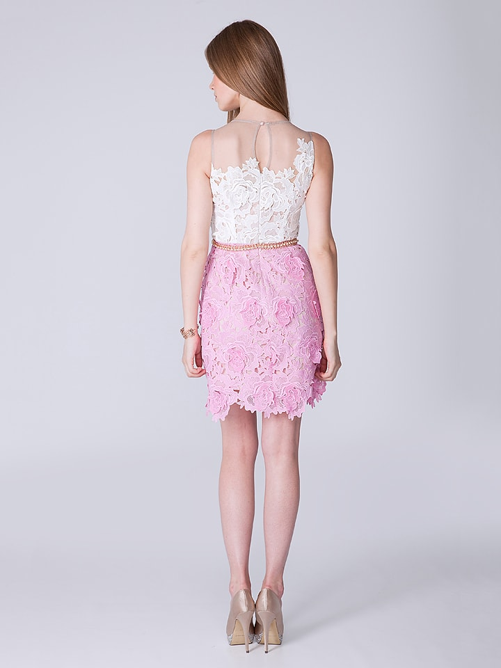 OLIMARA Kleid in Creme/ Rosa