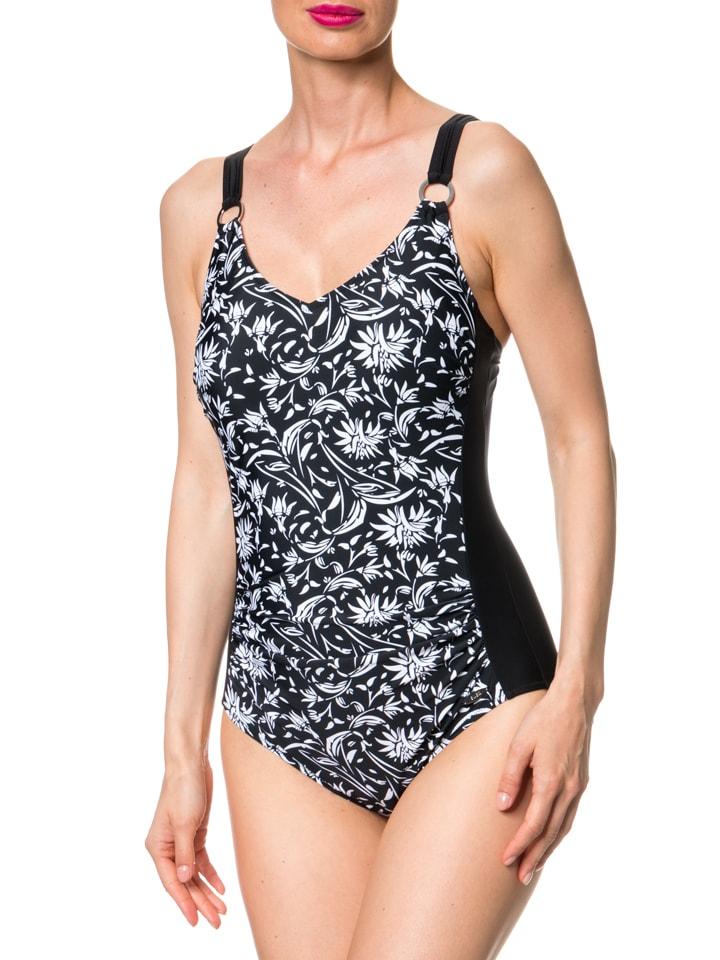 SUSA Badeanzug in Schwarz/ Weiß