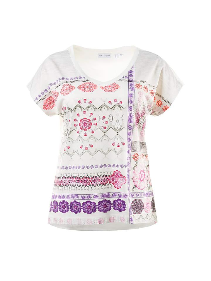 Gina Laura Shirt in Creme/ Bunt
