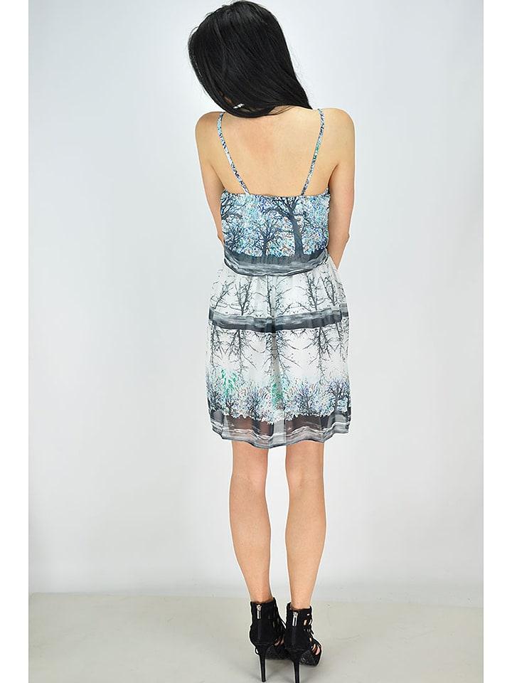 GoldKidLondon Kleid in Anthrazit/ Weiß/ Bunt