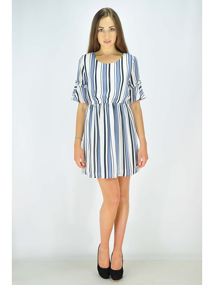 GoldKidLondon Kleid in Weiß/ Blau