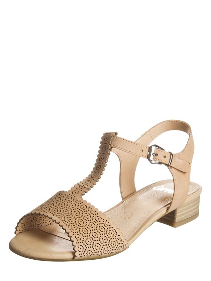 """Caprice Leder-Sandaletten """"Ariane"""" in Beige"""