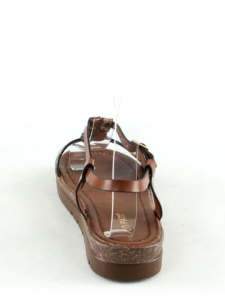 Poti Pati Sandalen in Braun/ Bronze