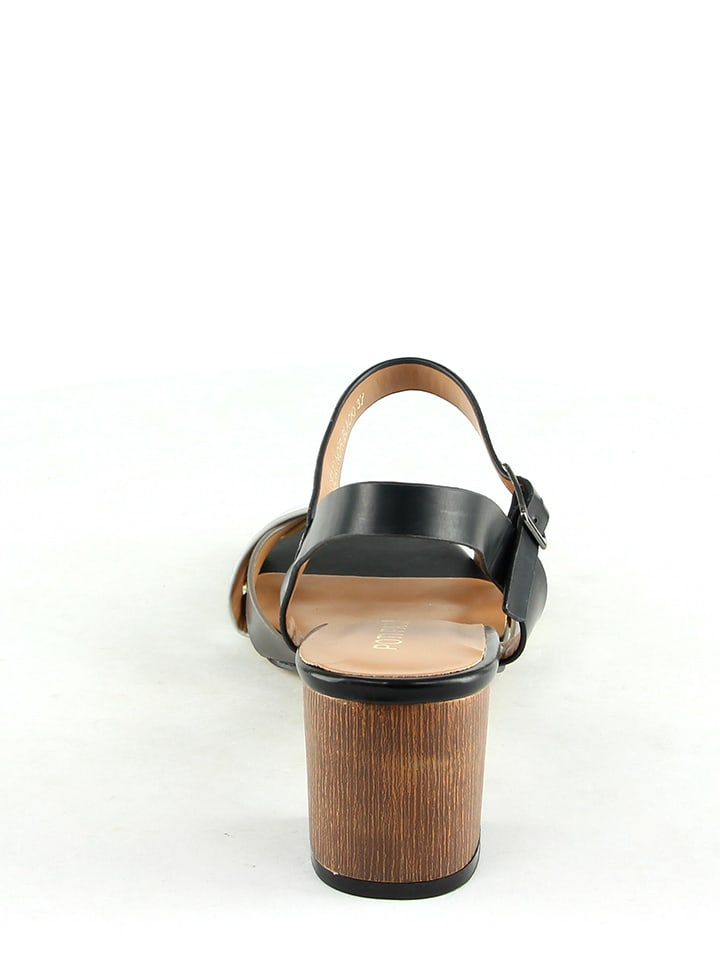 Poti Pati Sandaletten in Schwarz/ Silber