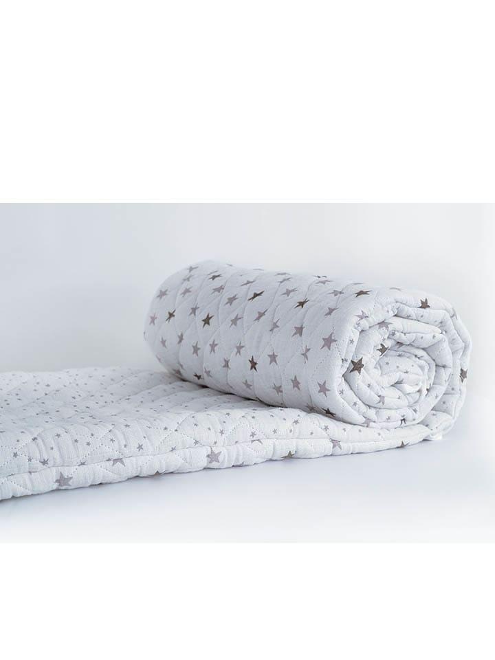 trois kilos sept - tour de lit - blanc/gris - 190 x 40 cm   outlet