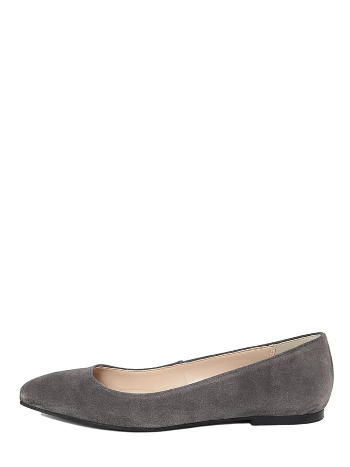 EYE Leder-Ballerinas in Grau