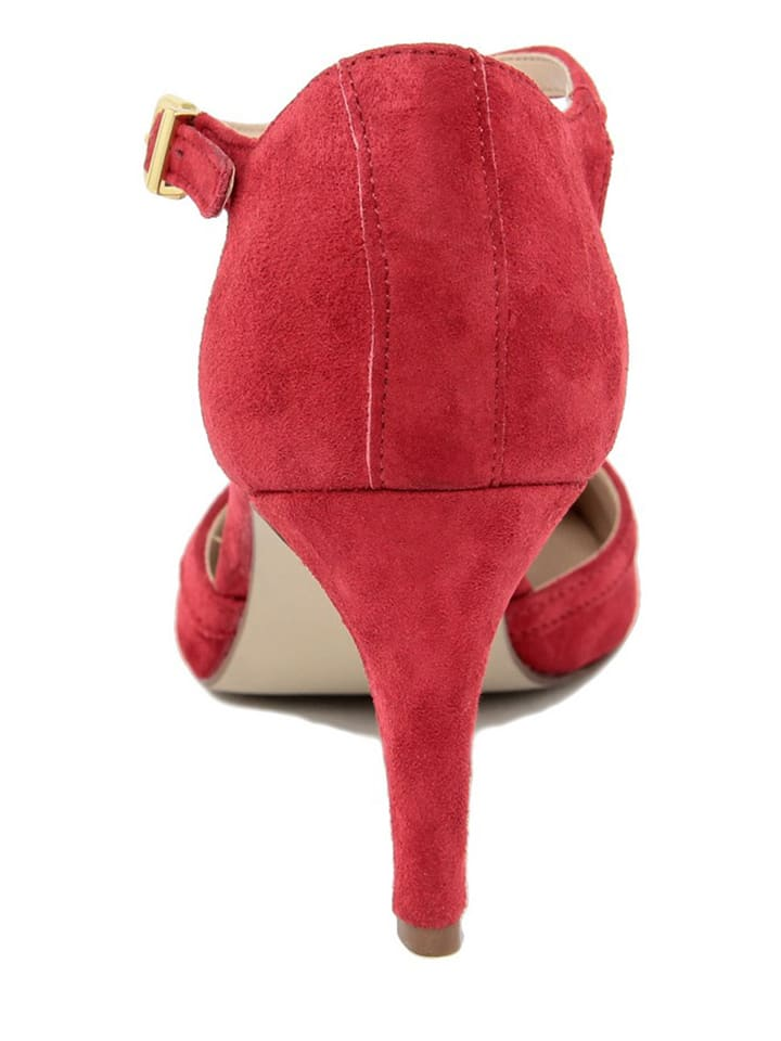 EYE Leder-Sandaletten in Rot