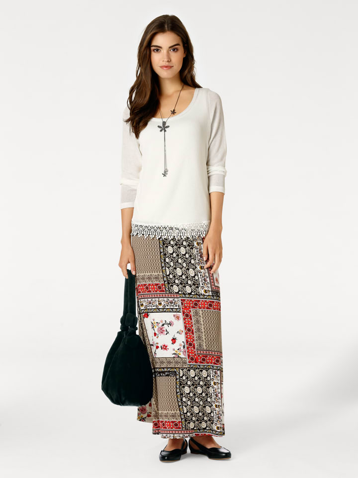 Linea TESINI by heine Pullover in Creme