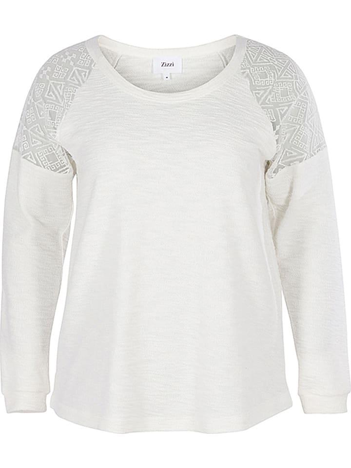 Zizzi Sweatshirt in Creme