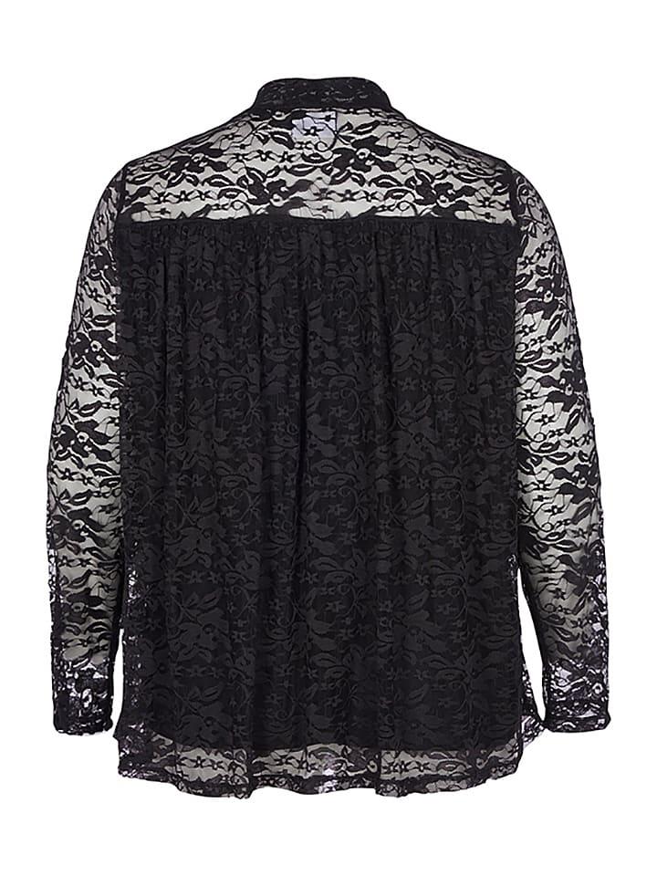 Zizzi Shirt in Schwarz