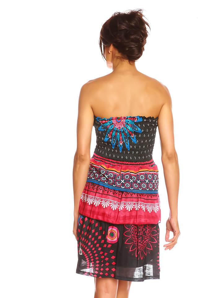 """Colors of the World Kleid """"Antoli"""" in Schwarz/ Bunt"""