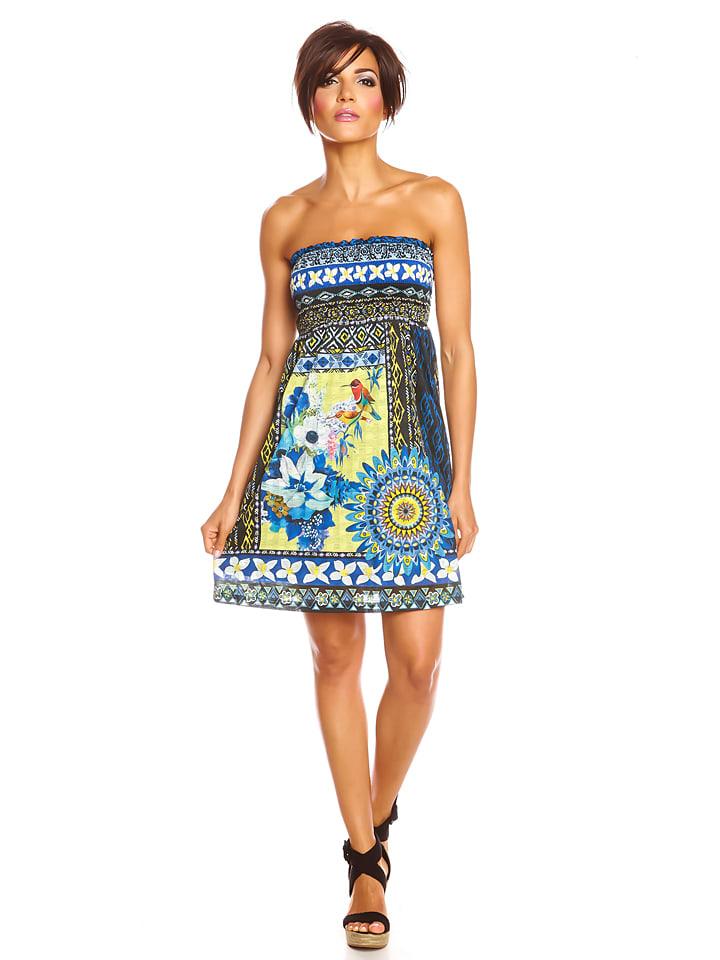 "Colors of the World Kleid ""Lena"" in Blau/ Bunt"