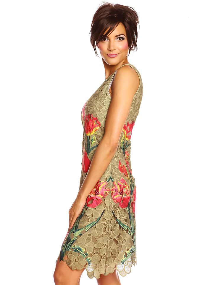 "Colors of the World Kleid ""Valentina"" in Khaki/ Bunt"