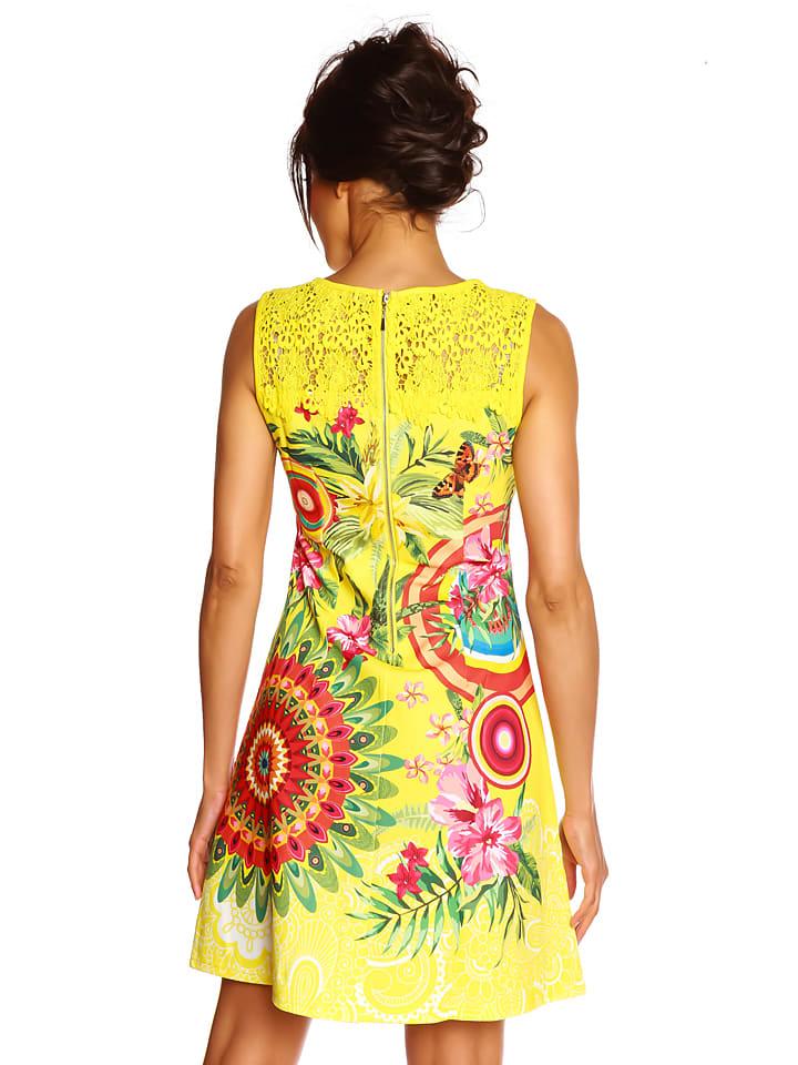 """Colors of the World Kleid """"Zoya"""" in Gelb/ Bunt"""