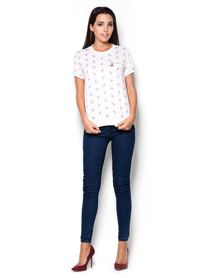 Katrus Shirt in Weiß/ Rosa