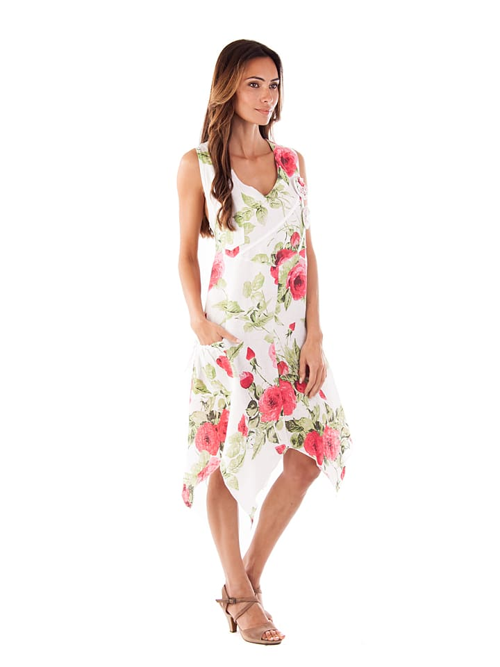 """Maison du Lin Leinen-Kleid """"Ibiza"""" in Weiß"""