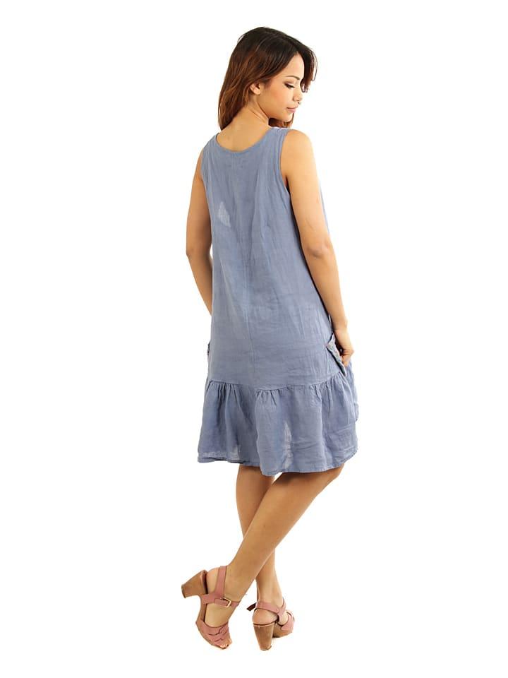 """Maison du Lin Leinen-Kleid """"Marseille"""" in Blau"""