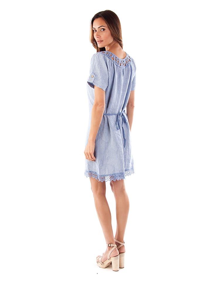 """Maison du Lin Leinen-Kleid """"Zurich"""" in Blau"""
