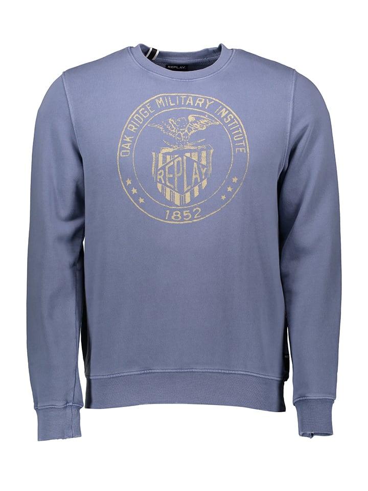 Replay Sweatshirt in Blau
