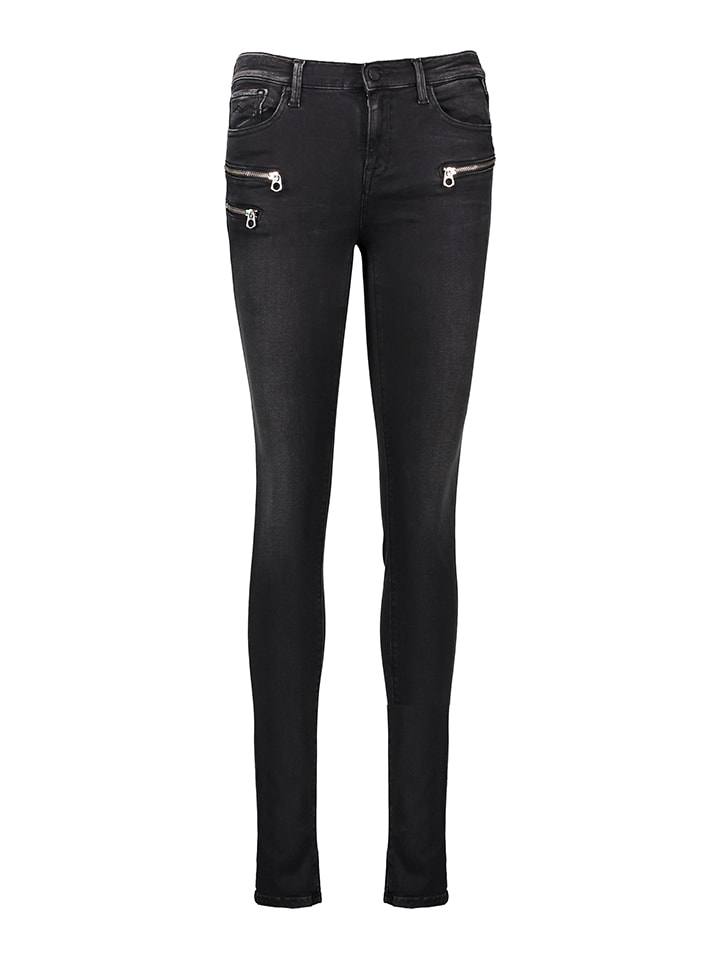 "Replay Jeans ""Joi Biker"" - Jeggings Biker - in Schwarz"