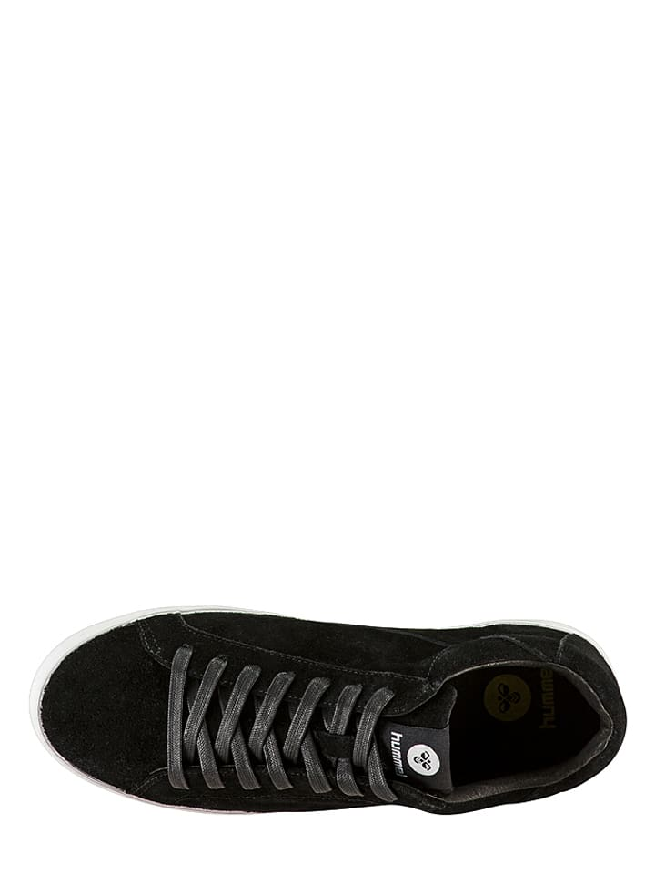 "Hummel Leder-Sneakers ""Cross Court"" in Schwarz"