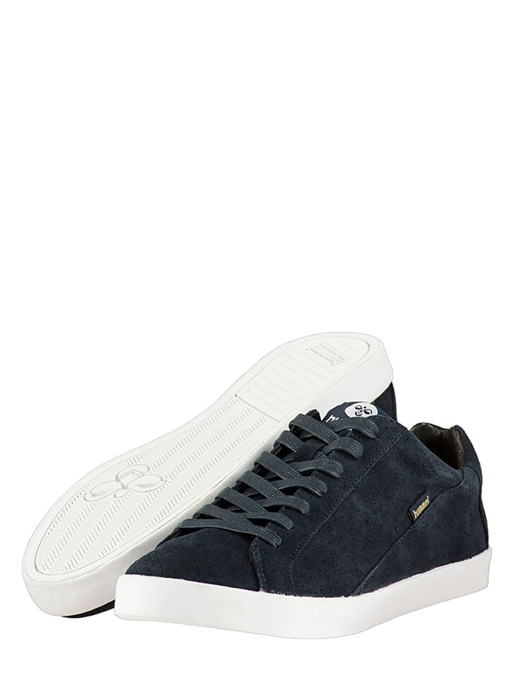 "Hummel Leder-Sneakers ""Cross Court"" in Dunkelblau"