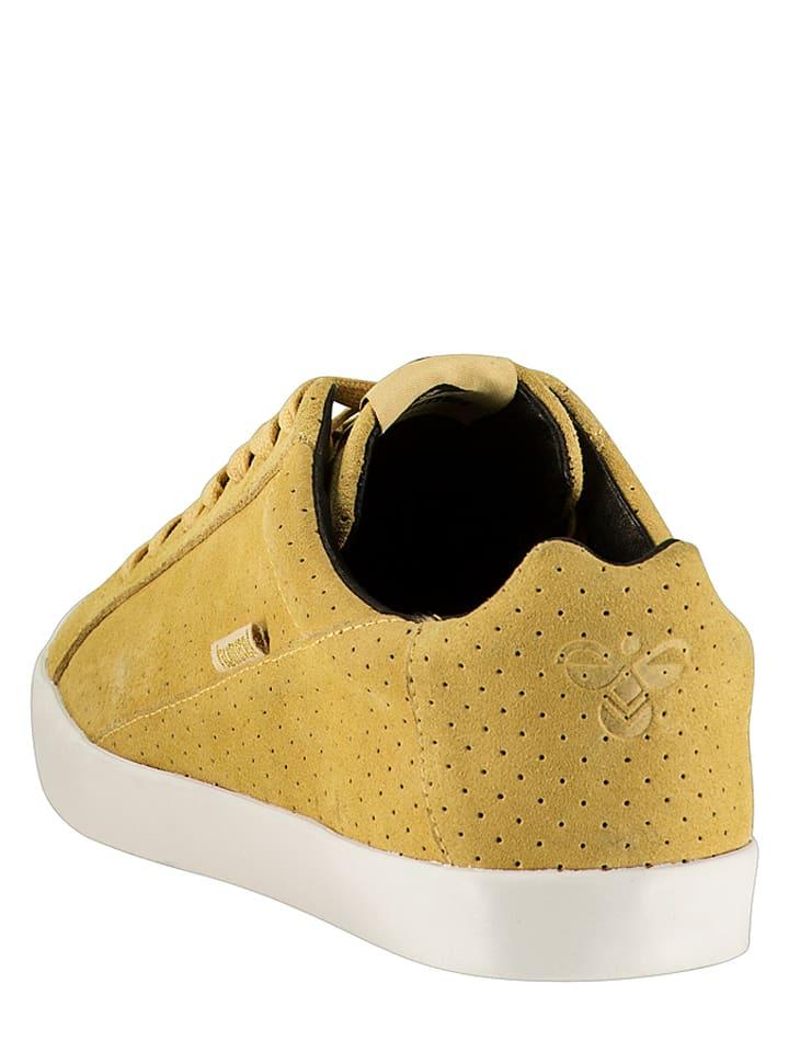"Hummel Leder-Sneakers ""Cross Court"" in Gelb"