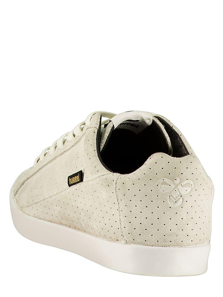 Hummel Leder-Sneakers Cross Court in Creme