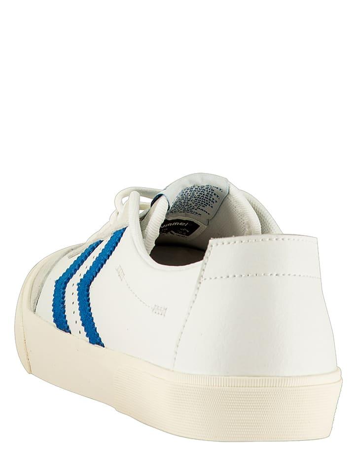 """Hummel Leder-Sneakers """"Stockholm"""" in Weiß/ Blau"""