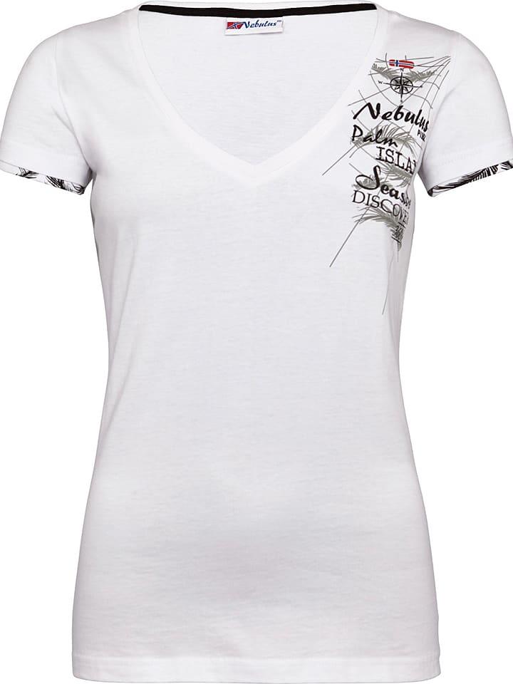 "Nebulus Shirt ""Blue Pearl"" in Weiß"