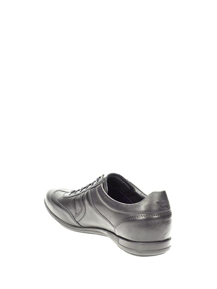 Wojas Leder-Sneakers in Schwarz