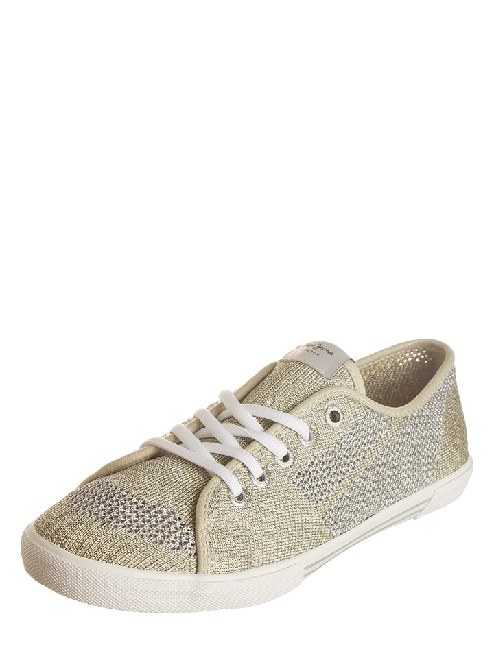 Pepe Jeans Sneakers in Gold/ Silber