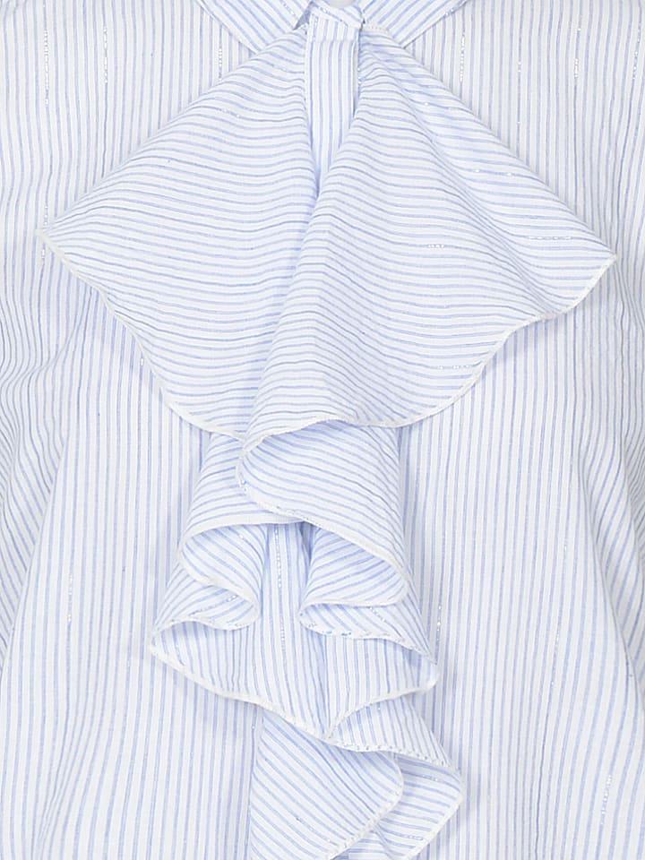 Eksept Bluse in Hellblau/ Weiß