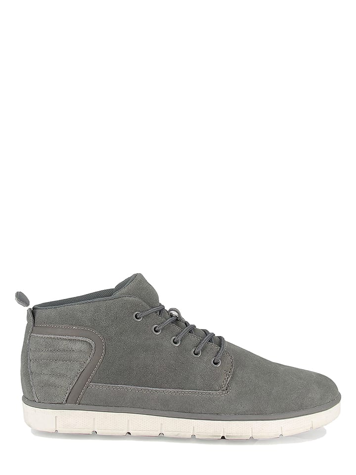 "Roadsign Leder-Sneakers ""Saul"" in Grau"