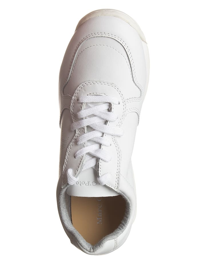 Marc O'Polo Shoes Leder-Sneakers in Weiß