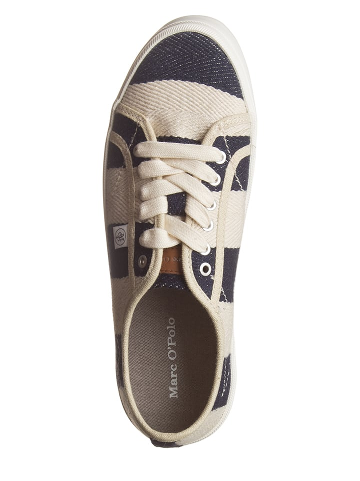 Marc O'Polo Shoes Sneakers in Dunkelblau/ Creme