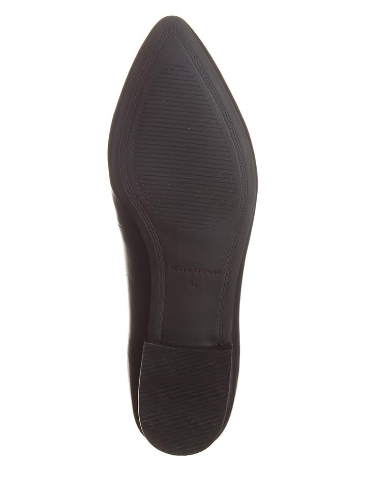 Marc O'Polo Shoes Leder-Ballerinas in Schwarz