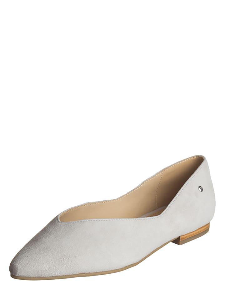 Marc OPolo Shoes Leder-Ballerinas in Hellgrau